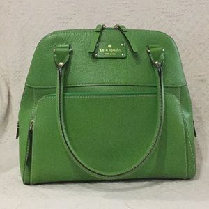 Kate Spade Large Dome Satchel in Green Apple